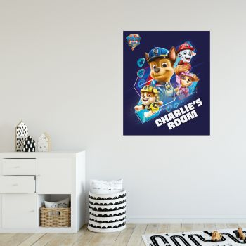 Paw Patrol Movie Action Hero Rescues Personalised Wall Sticker