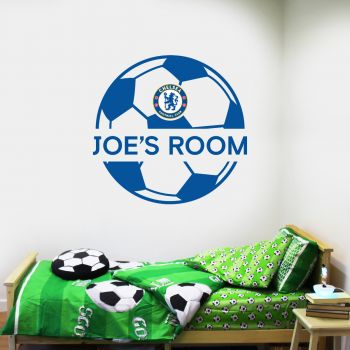 Chelsea Ball Design Personalised Name Wall Sticker