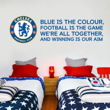 Chelsea Crest Blue Is The Colour Song Wall Mural Sticker