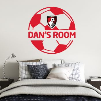 AFC Bournemouth Personalised Name Ball Wall Sticker