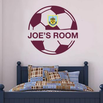 Burnley Ball Design Personalised Name Wall Sticker