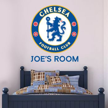 Chelsea Crest Personalised Name Wall Mural Sticker Badge Wall
