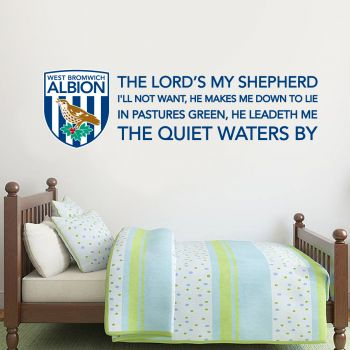 West Bromwich Albion Lordss My Shepard Song Crest Wall Sticker Vinyl