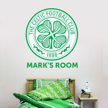 Celtic Personalised Crest Name Wall Sticker