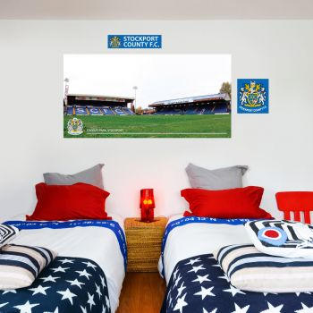 Stockport County Edgeley Park Pitch Side Wall Mural