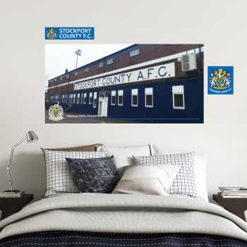 Stockport County Edgeley Park Street Wall Mural