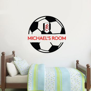 Fulham Personalised Name Ball Design Wall Sticker