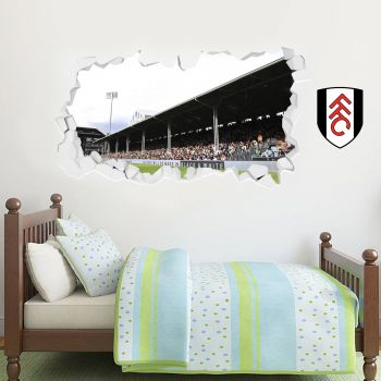Fulham Stadium Smashed Wall Mural Crest Wall Sticker