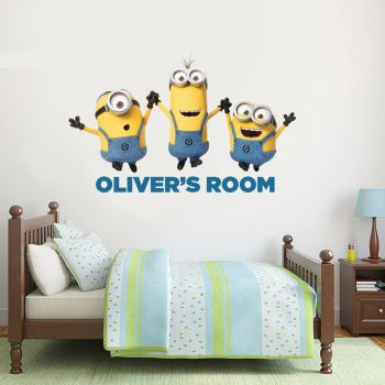 Despicable Me 3 Minions Personalised Wall Sticker