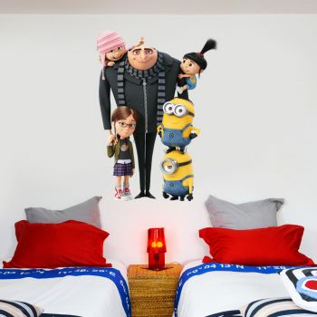 Despicable Me Gru Family Wall Sticker