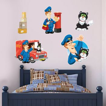 Postman Pat Special Delivery Service Wall Sticker