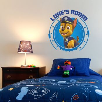Paw Patrol Chase Personalised Wall Sticker