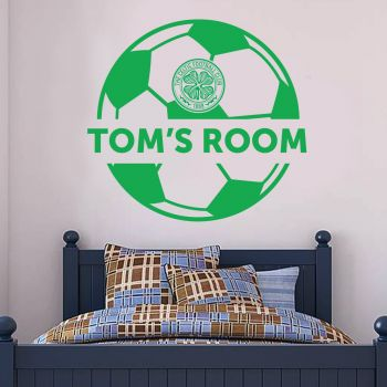 Celtic Personalised Ball Crest Wall Sticker