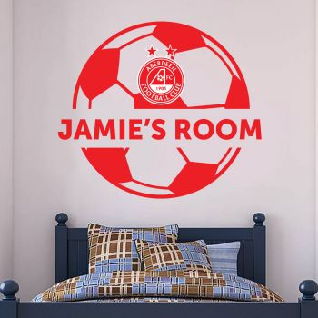Aberdeen Personalised Name Ball Wall Sticker