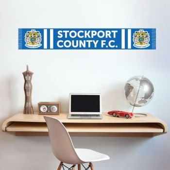 Official Stockport County Bar Scarf Wall Sticker