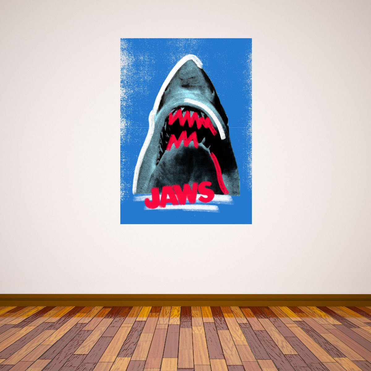 Jaws Wall Sticker - Red Paint Shark Graphic