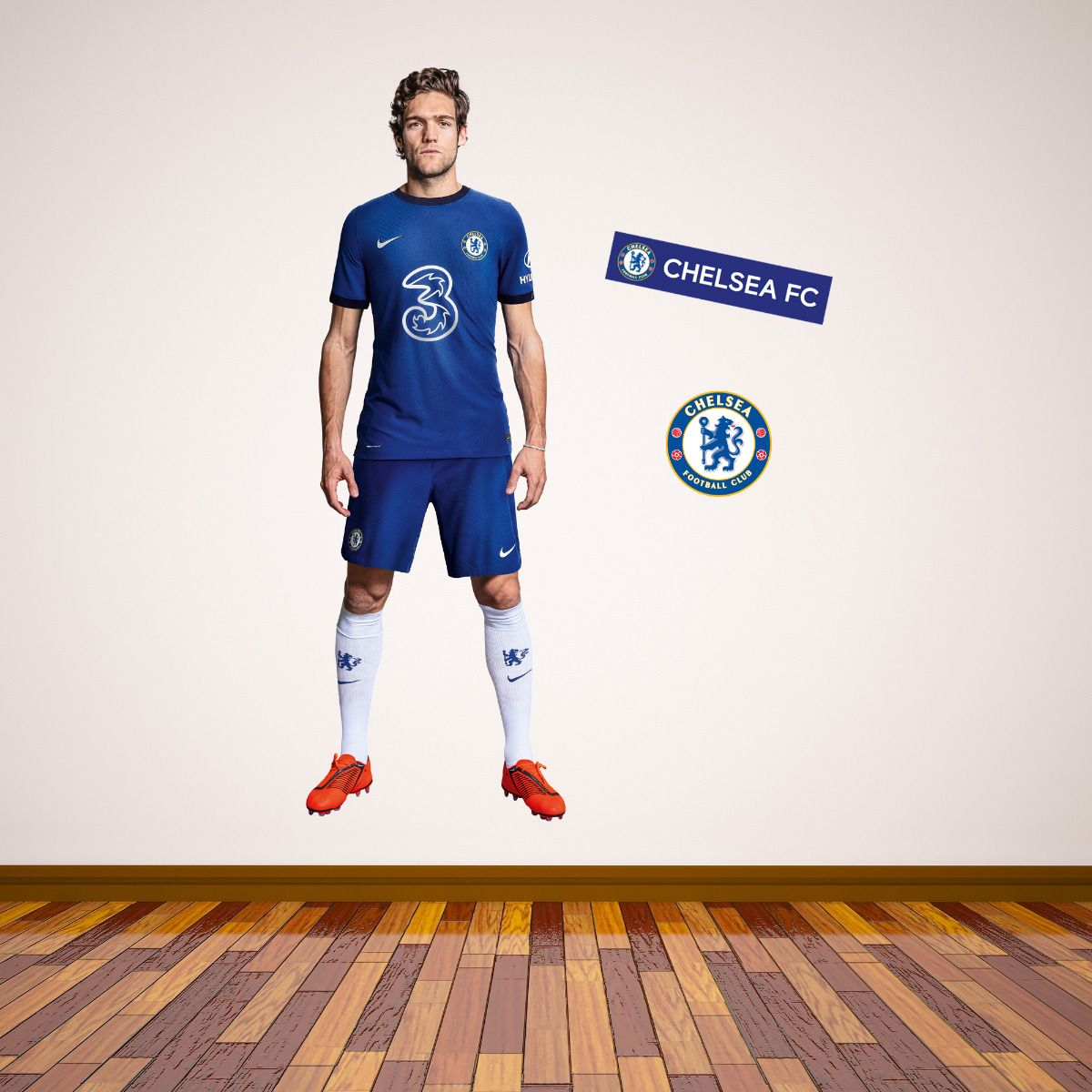 Chelsea FC - Marcos Alonso 20/21 Player Decal + CFC Wall Sticker Set